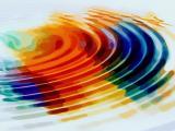 彩色水波纹