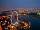 城市摩天轮夜景
