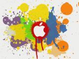 涂鸦风格苹果Logo