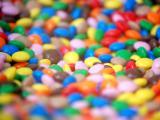 美丽的彩色糖豆