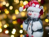 可愛的圣誕雪人